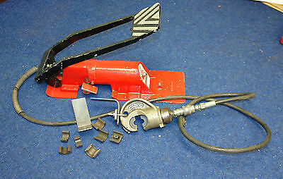 Used bicc burndy b10 hydraulic cable crimping tool foot pump