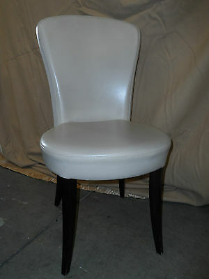 White Button Back Dining Chair/Desk Chair