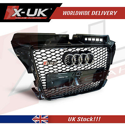 Audi A3 S3 To Rs3 Front Grill Gloss Black  2009-2012