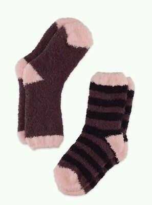 Childrens Cosy / Welly Socks (2 pair pack) kids shoe size 6-8 Colour BlackBerry