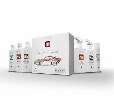 New AutoGlym Perfect Bodywork & Wheels Kit Set Valet Car Clean Shampoo FREE GIFT