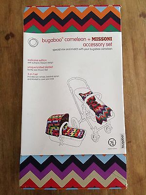 NEW Bugaboo Cameleon MISSONI 3in1 fabric set (Canopy, Apron and Blanket)