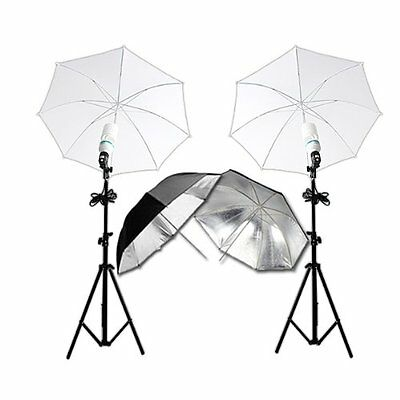 RPGT? Photography Camera Photo Studio Continuous Dual Lighting Kit with 80W Lamp