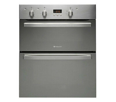 NEW UNBOXED HOTPOINT UD53X Electric Built-under Double Oven - Stainless Steel