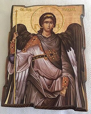 Orthodox Archangel Michael Wooden & Hand Painted Icon