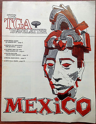 Vintage Travel Guild of America (TGA) Traveletter 1967 Mexico