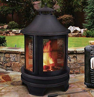 Outdoor Fire Pit Grilling BBQ Heater Garden Patio Steel Firepit Burner Patio
