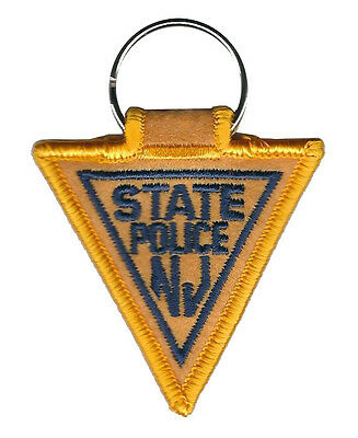 """New Jersey State Police Patch Key Chain 3 1/4"""" tall by 2 3/8"""" wide - NEW"""