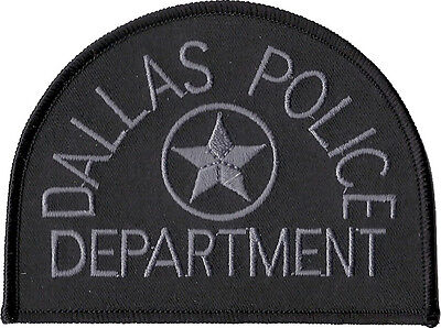 """Dallas Police Department Texas Subdued Shoulder Patch  3 3/8"""" tall x 4 3/8"""" wide"""
