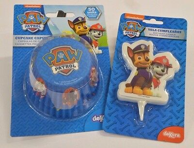 Paw Patrol Licensed Product Cake Cupcake Cases Birthday Candle Decoration