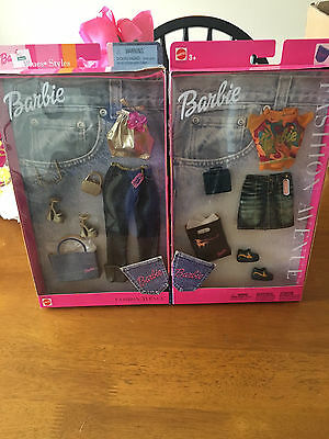 Barbie Fashion Avenue  2 Seperate outifts NRFB 2001 and 2002