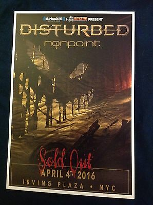 Disturbed Nonpoint Tour Poster Vip Only Irving Plaza Nyc 4/4 2016