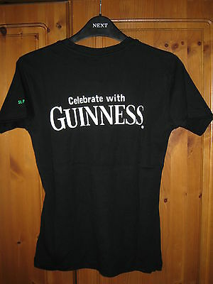 """Guinness Ladies """"St Patricks Party"""" 2003 Stretch Fit T-shirt. Brand New."""