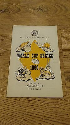 Australia v France 1960 Rugby League World Cup Programme