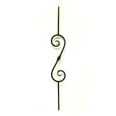 ALEKO Durable Black Glossy Powder Coated Finish Baluster