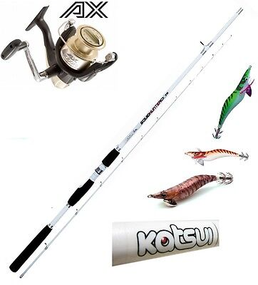 Kit Pesca Calamari Canna Squid Hunter -Mulinello Shimano-3 Totanare Assortite