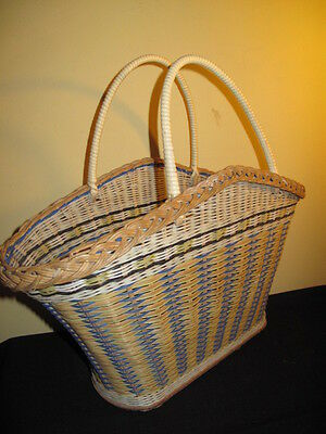 Vintage  Wicker Shopping basket 50s / 60s style