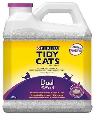 tidy cats dual power lettiera agglomerante per gatti by purina