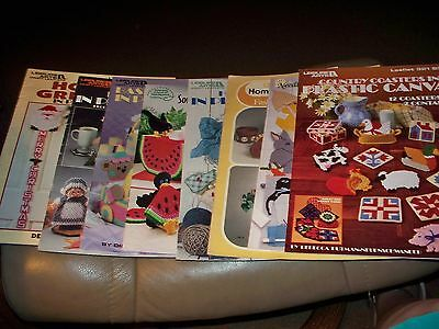 Lot #6= 8 Assorted Brand Name Plastic Canvas Pattern Booklets