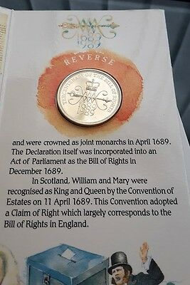 The 1989 United Kingdom Brilliant Uncirculated Bill of Rights £2 Coin