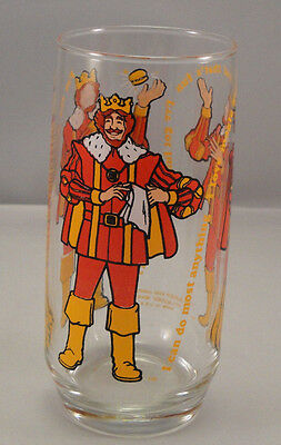 BURGER KING Drinking Glass 1979 I Can Do Most Anything Collectors Series VTG