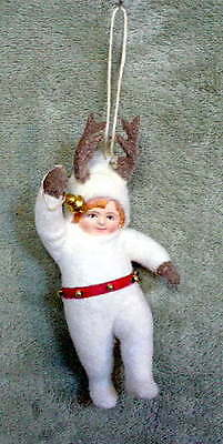 Bethany Lowe Antique inspired Folk Art Reindeer Games Christmas Ornament - New
