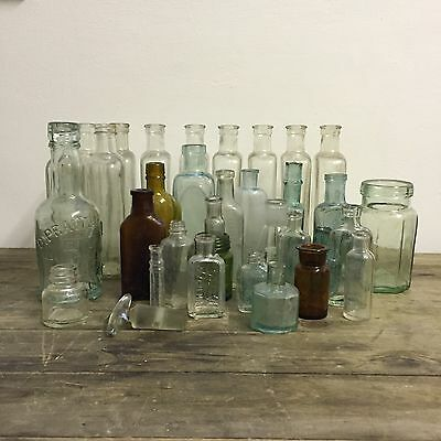 Antique Bottle Collection Vintage Props Display Collectable