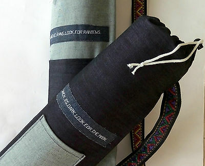 YOGA MAT BAG two set wedding present handmade personalised pocket aztec quote