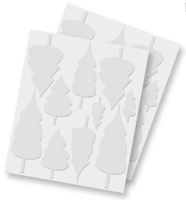 5 Pks of Scrapbook Adhesives 3D Foam Trees White Mix 20 piece 01210 Evergreen