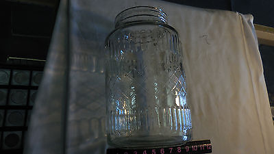 "Vintage Large Store Counter 12""h Barrel Glass Pickle Jar--No Lid"