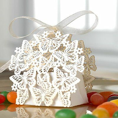 Laser Cut Butterfly Wedding Favor Box Birthday Shower Party Candy Boxes 50 Pack