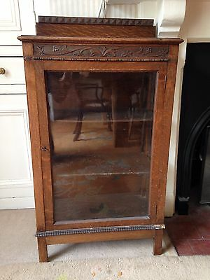 Small Oak Display Cabinet Drinks Cabinet