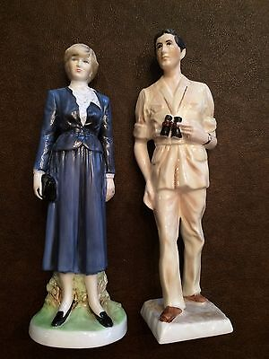 Coalport Prince of Wales and Lady Diana Spencer Figurines HTF
