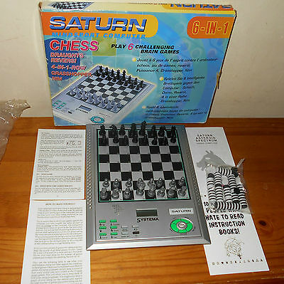 Saturn Mindsport 6 in 1 Computer Chess, Draughts, 4 in 1 Row and Others