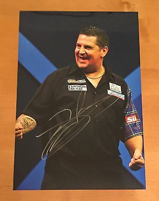 SIGNED GARY ANDERSON 12x8 DARTS PHOTO WITH PHOTO PROOF & COA