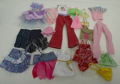Barbie Doll New Outfits 20 Pc Lot W/ Pants, Tops, Purses / Clothes / Accessories