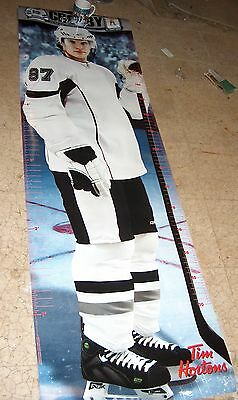 Sidney Crosby Lifesize Tim Hortons Height Measuring Poster 6ft tall