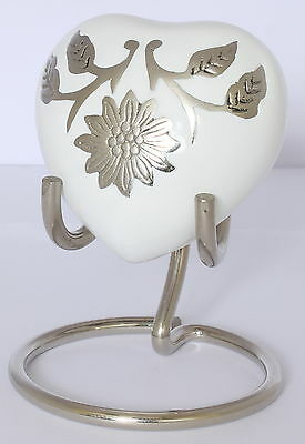 Heart Ashes Keepsake Urn ,Small Cremation Funeral Memorial Mini Urn - FREE STAND