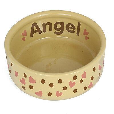 Personalised Dotty Heart Large Dog Bowl Gift/Pet Bowl Gift/P0305F96