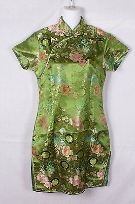 Traditional Chinese Cheongsam Formal Dress Qipao Beautiful Floral Patern Size L