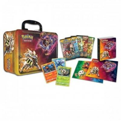 Pokemon Collector Chest Tin Lunchbox Trading Card Game 3 Foils, 5 boosters &more
