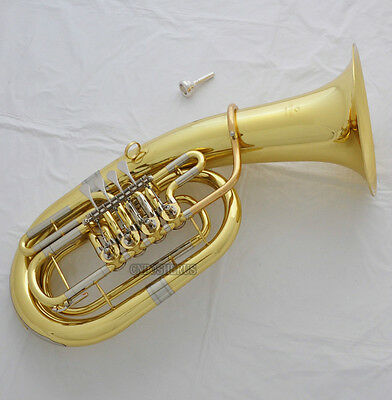 Professional Gold Rotary Bb Euphonium 4 Keys Cupronickel Tuning Pipe With Case