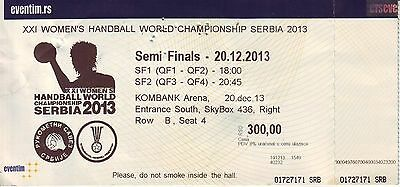 Match Ticket Handball World Championship 2013 : Semi Finals Matches