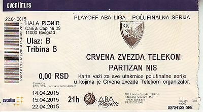 Match Ticket Basketball : Derby - Red Star Belgrade Vs Partizan Belgrade
