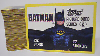 VINTAGE! COMPLETE SET! 1989 Topps Batman Series 2 #133-264 Base Card Set