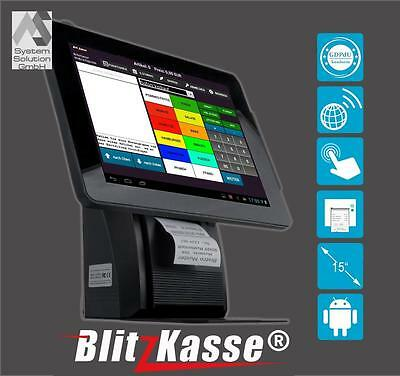 "15"" All-in-One Kasse EINZELHANDEL: Bondrucker Kundenanzeige Kassensoftware Touch"