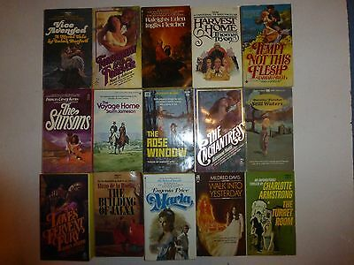 Vintage Lot of 15 Historical Gothic Romance Large Novels in Paperback