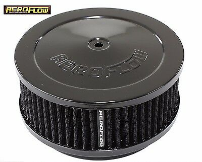 """Black Air Cleaner Assembly 6-3/8"""" x 2.5"""" with Washable Filter Element Aeroflow"""
