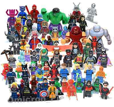 Lego Super Heroes Minifigures + Custom Superhero Mini Figures Various MiniFigs