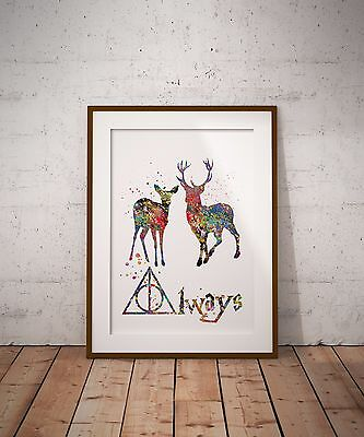 Always Harry Potter Quote Art Print Doa and Deer Wall Decor Art
